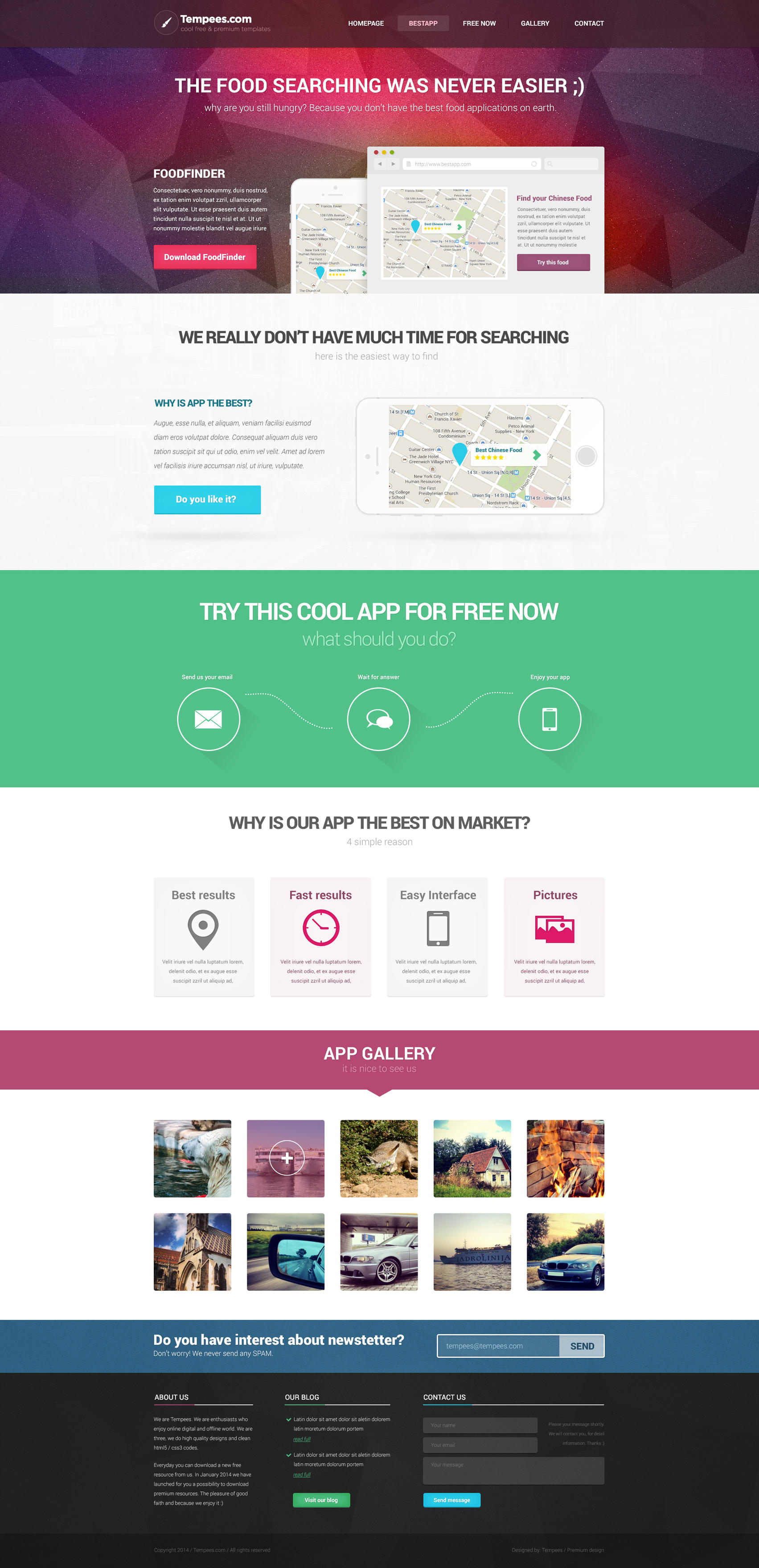 App Try Landindpage FREE PSD Template by tempeescom
