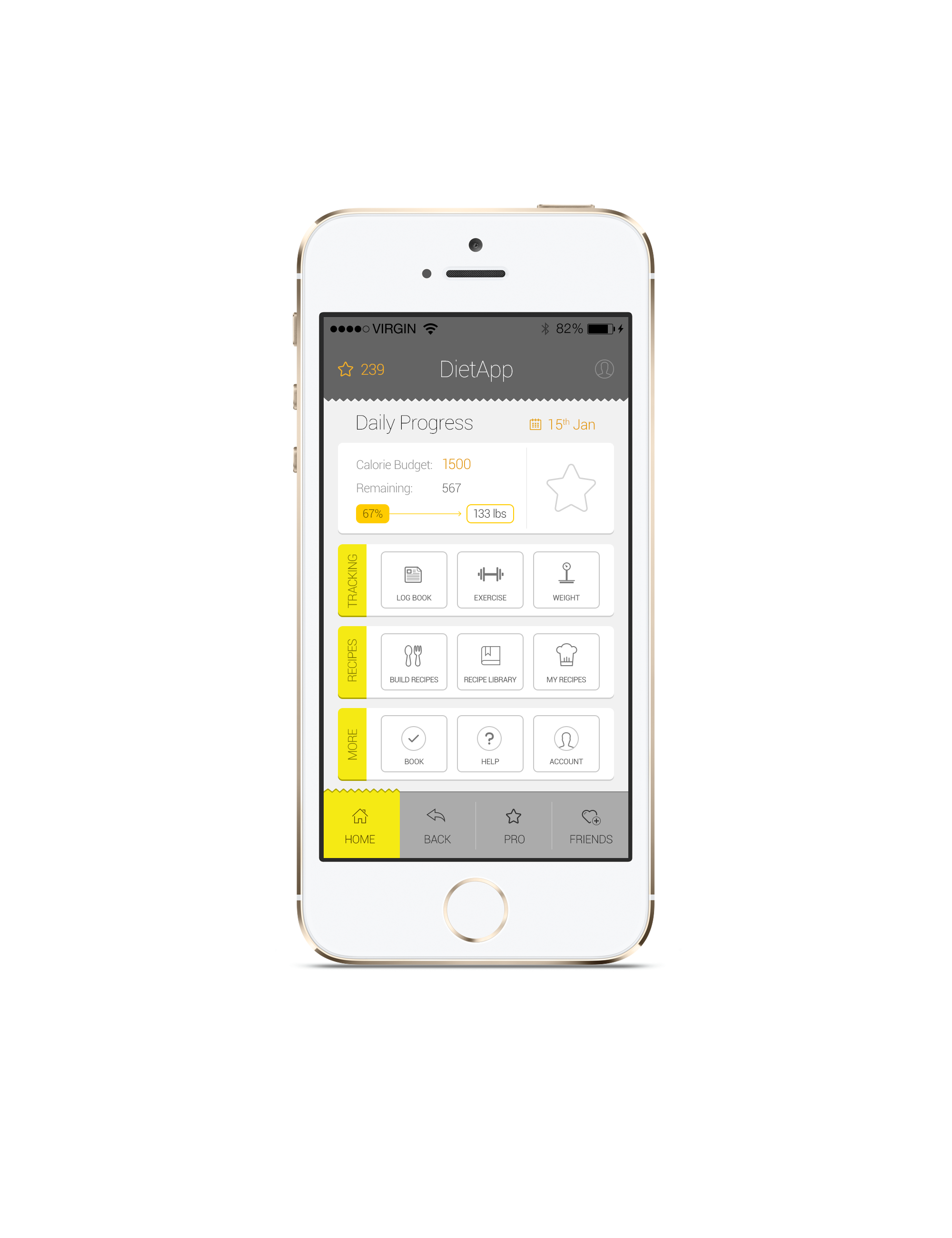 App Diet Home mobile app design by tempeescom