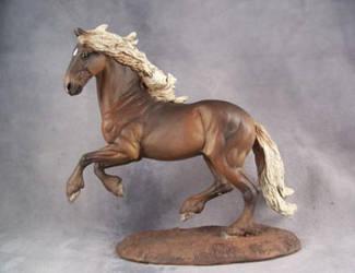 Silver Friesian x Morgan horse by ymagier