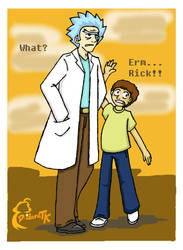 Rick and Morty by deidaratk