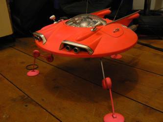 elvis in a flying saucer 2 by amoebabloke