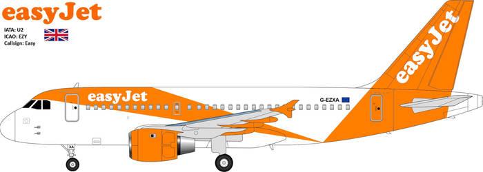 Easyjet A319 100 New Livery By Jetstream 61 On Deviantart