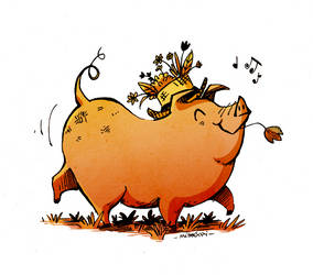 Cochon Heureux by Mistexpi