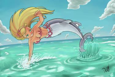 Sereia no mar by DaviLeopardo