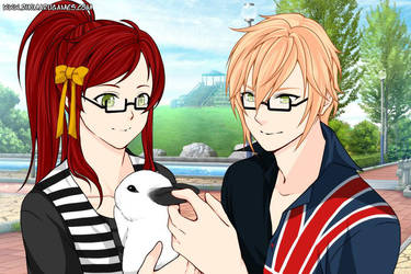 Eric and Ruby with Cookie by princesschris89