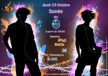 iPod Battle Poster by Pedro-de-la-Luna