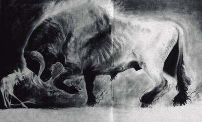 Into the Sea (The Last Unicorn) by foxspitt