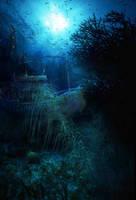 under ocean by pirsion