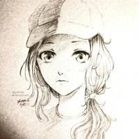 ANIME GIRL SKETCH by ryuhimei