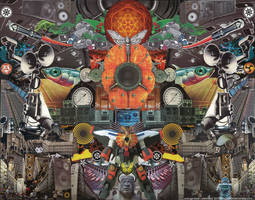Orange Brain Unlimited by bluespectralmonkey