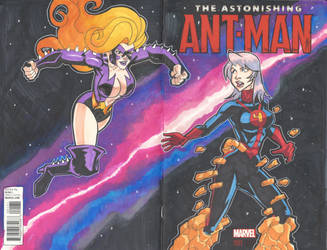 Ant-Man Sketch Cover Commission by masamune7905