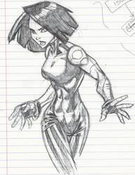 Battle Angel doodle by masamune7905