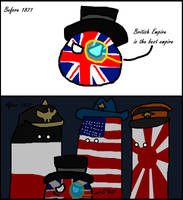 Countryballs Three nation of 1871 by Disney08