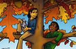 Meet Me In The Tree by byakurai1313