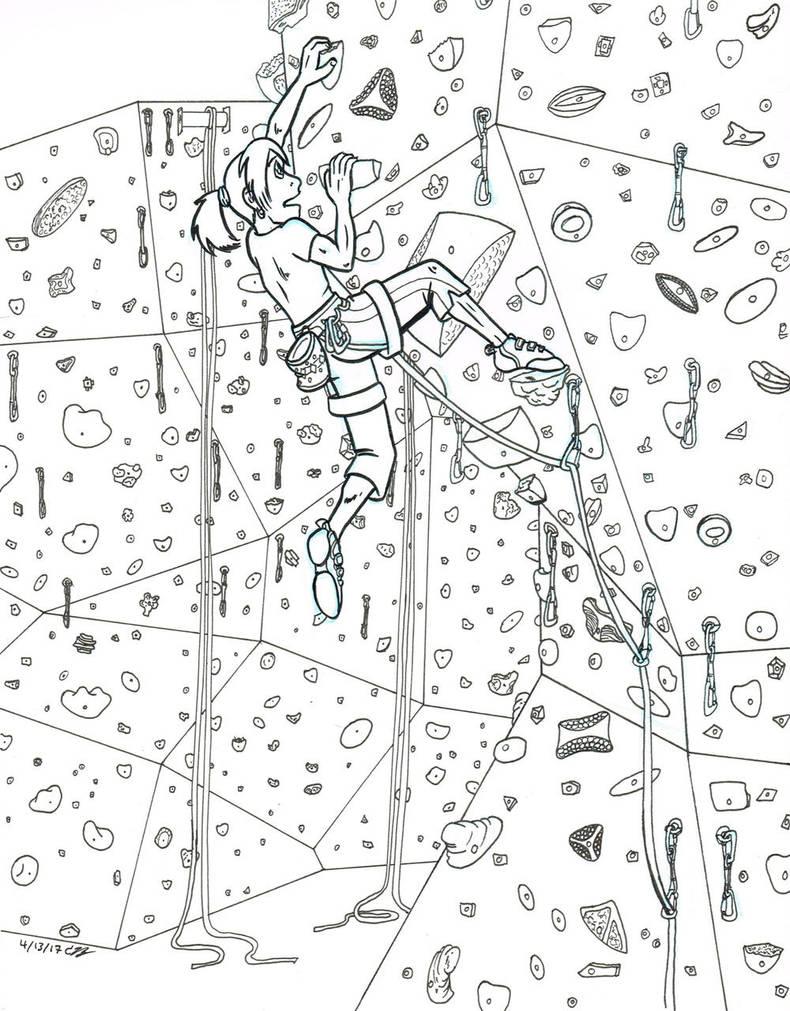 Climbing WIP by byakurai1313