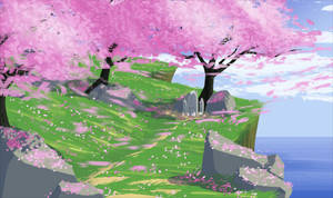 Cliffside blossoms by SeikoloveyCakes