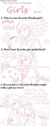 Hetalia girls meme by Mangaka-chan