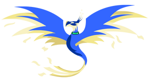 Blue Golden Phoenix by Lightning-Bliss