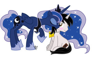 Luna Kisses Yugioh Brony Commission by Lightning-Bliss