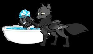 Night Mist Bath Time Patreon Reward by Lightning-Bliss