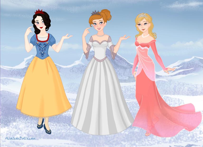 Classic Princesses Frozen style by amanmangor