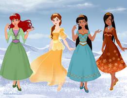 Renaisance Princesses- Frozen style by amanmangor