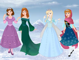 CGI princesses- Frozen style by amanmangor
