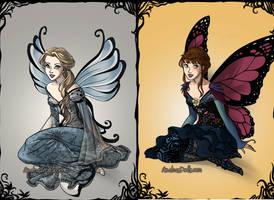 Elsa and Anna by amanmangor