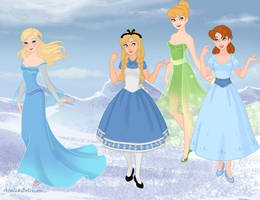 Disney Heroines Part 1 by amanmangor