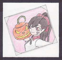 [Overwatch] Pumpkin Selfie by NisuKitsune