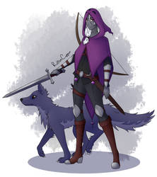 Ra'dir has a dog now by RottenCopper