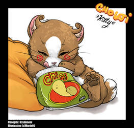 Naruto cats - Chouji by cheenot