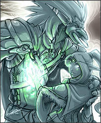 wow- hunter x druid by cheenot