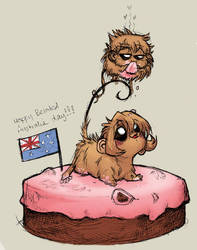 Belated Australia day by cheenot