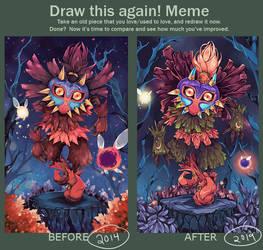 Draw This Again: Skull Kid 2014 - 2019 by Hodremlin