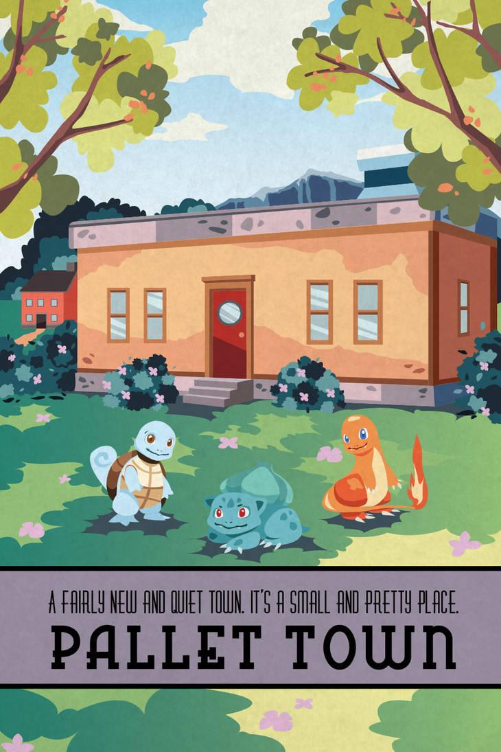Pokemon Travel Poster - Pallet Town by Hodremlin