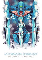 Neon Genesis Evangelion - Rei Ayanami by Hodremlin