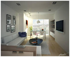 living room by ranggaumbas