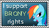 I Support Brony Rights by Sooraya-in-a-Hat