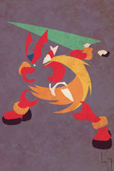 Megaman Zero by Jehuty23