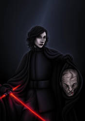 Kylo Ren and Snoke by TheFatalImpact
