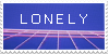 L O N E L Y Stamp by Gay-Mage-Of-Space
