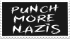Punch More Nazis Stamp by Gay-Mage-Of-Space