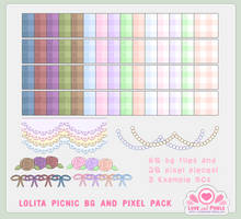 Pixel - Lolita Picnic BG Pack by firstfear