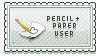 Stamp - Pencil+Paper User by firstfear