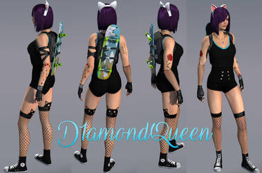 APB Reloaded - PC - Character D1amondQueen - Black by JackXan