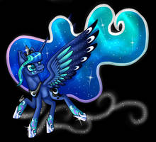 Rainbow Power Princess Luna (Remake) by InspiredPixels