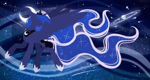 .:Starry Night-Princess Luna:. by InspiredPixels