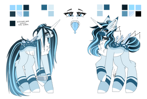Sugar the Crystal Starback Reference Sheet by InspiredPixels