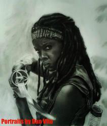 Michonne Sketch by MXSAVN31